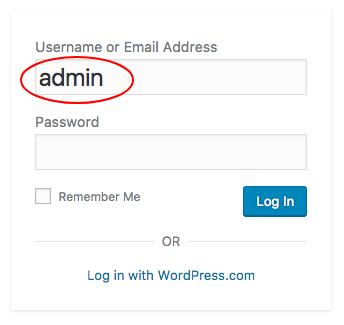 default admin
