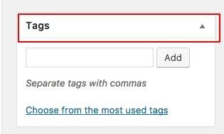tags in wordpress